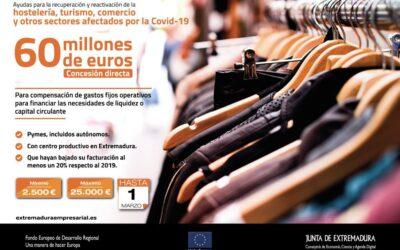 La Junta destina 60 millones en ayudas para hostelería, turismo y comercio