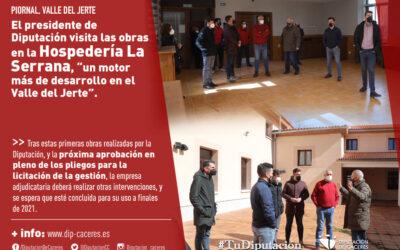 """Carlos Carlos visita las obras realizadas en la Hospedería La Serrana, """"un motor más de desarrollo en el Valle del Jerte"""""""