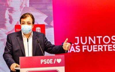 El PSOE aprueba el proyecto de Presupuestos de Extremadura para 2022 con un 9 % de crecimiento y 7.000 millones de euros