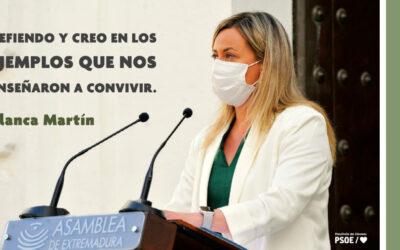 Blanca Martín apela a la unidad para hacer valer las fortalezas de Extremadura