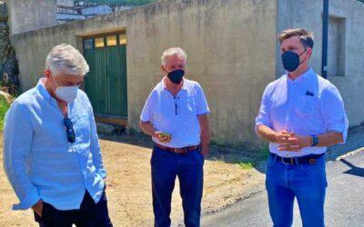 Fernando G. Nicolás visita las obras de la CC-16.1 de Baños de Montemayor a La Garganta a punto de finalizar
