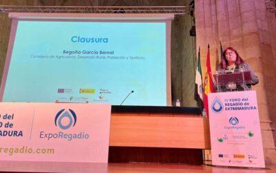 La agricultura de regadío es un factor crucial para el desarrollo económico y social de Extremadura