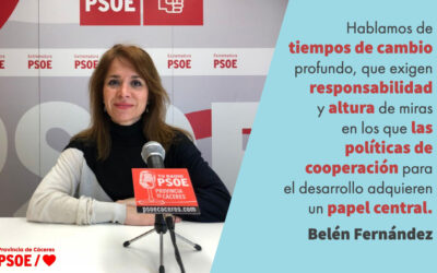 Belén Fernández: «Sin solidaridad no hay proyecto común»