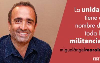 Miguel Á. Morales: «No me debo a nadie más que a la militancia del PSOE»